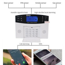 Wireless Home Security GSM Alarm Systems LCD Display Wired Siren Kit SMS Alarm