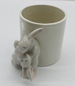 Tango Omnibus OCI 1986 ~ Bunny Rabbit Family Mug Planter ~ Easter Spring~Vintage