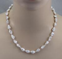 Keshi-Perlenkette mit kleinen Amazonit Rondellen in 49 cm Länge
