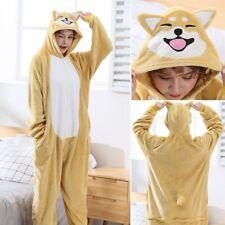 Flannel Shiba Inu Animal Pajamas Cartoon Kigurumi Cosplay Costume   Sleepwear