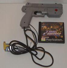 PS1 Oficial Namco Sony Playstation NPC-103 pistola de luz G-con & Time crisis Juego