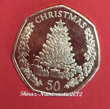 50P Christmas Coin Gibraltar 2016 UNC Fifty Pence TREE