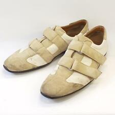 Gucci Mens Cream/Beige Canvas & Suede VeIcro Sneakers, Size UK 10.5 / EU 45