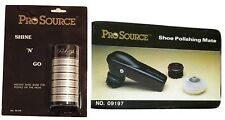 NEW Pro Source Deluxe Shoe Shine Kit All Types of Shoes - Black W434