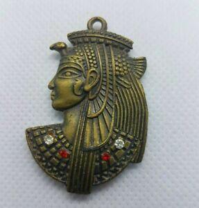Ancient Egyptian Civilization Amulet Bronze Pharaoh Rare Pendant Antique Necklac
