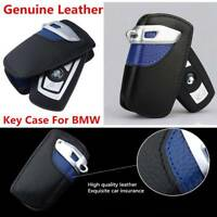 Genuine Leather Car Remote Key Bag Case Cover FOB Holder For BMW 2 3 5 Series X3