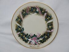 Lenox Limited Edition Colonial Christmas 1991 Wreath Issue South Carolina Plate