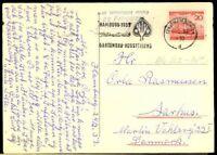 Germany #690 Postcard Hamburg to Denmark 25.2.53 CDS