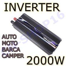 INVERTER 2000W WATT 12V 220V TRASFORMATORE AUTO BARCA CAMPER USB