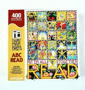 Springbok ABC Read Mary Engelbreit Family Puzzle 400 BIG & Little Pcs COMPLETE