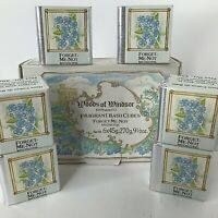 Woods Of Windsor Vintage 1985 Forget Me Not Bath Cubes Water Softeners (6) RARE!