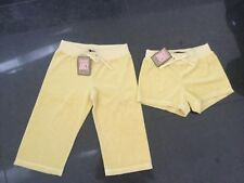 NWT Juicy Couture New & Gen. Yellow Cotton Shorts & Crop Pants Set Girls Age 8