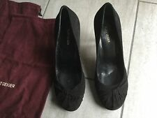 Kurt Geiger Ladies Black Suede High Heeled Shoes Size 39 / 6 Great Condition.