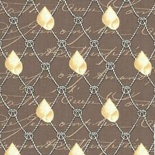 Michael Miller By the Sea Nautical Netting - Clay , Cotton Fabric