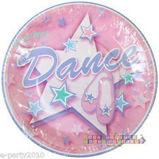 BALLERINA DANCER LARGE PAPER PLATES (8) ~ Girly Birthday Party Supplies Luncheon