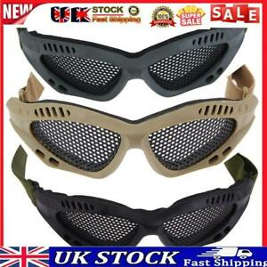 Tactical Airsoft Outdoor Steel Mesh Eyes Protective Goggles Glasses Eyewear