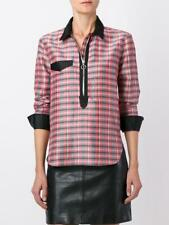 *STUNNING* Isabel Marant Ladies Checked Zip Neckline Shirt UK12 US8 EU40 silk