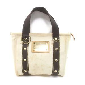 Louis Vuitton LV Hand Bag M40039 Cabas PM White Antigua 1729830