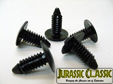 "For Jeep 5pcs Black Nylon Plastic Retainers Clips Bumpers Fenders 1/4"" 6mm NOS"