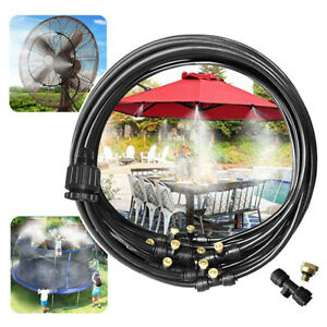 Outdoor Misting Misters Cooling System 33.3FT Misting Line for Patio Fan Garden