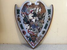 Late 1800'S Cast Iron Wall Mount Sheild With Battle Scene