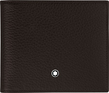 Montblanc 114465 Meisterstück Soft Grain Wallet 8cc, Brown, GENUINE NEW IN BOX