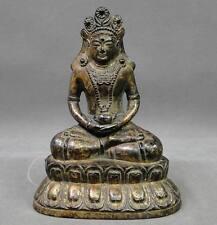 Chinese Qing Dynasty Gold Gilt Bronze Buddha