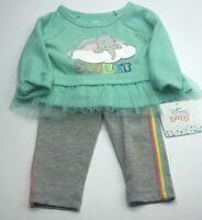 Disney Dumbo Baby Girl Long Sleeve Tulle Ruffle Tunic and Legging Super Cute New