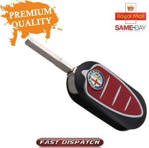 For Alfa Romeo Giulietta MiTo 3 Button Remote Flip Car Key Fob Case Cover Shell