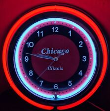 CHICAGO ILLINOIS ILLUMINATING WALL CLOCK