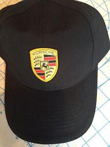 Porsche Driver's Selection Crest Black Cap Original Genuine OEM NEW WAP0800050C
