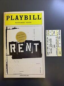 RENT April 28, 2003 Broadway 7th ANNIVERSARY Playbill w SEAL! + Insert & Ticket!