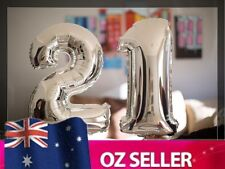 "Silver Foil Helium number balloon - 21st Brithday Party 40"" inch 100cm AUS STOCK"