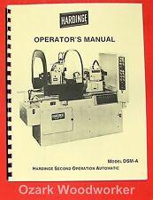 Hardinge Dsm-A Automatic Lathe Operator's Manual 0333