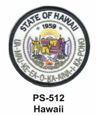 """HAWAII State Seal Embroidered Patch-3"""""""