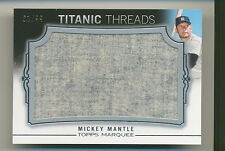 MICKEY MANTLE 2011 Topps Marquee Titanic Threads JUMBO JERSEY RELIC /99 YANKEES