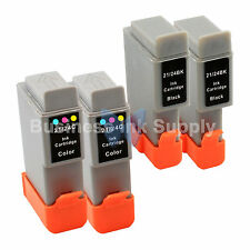 4 PACK BCI-24 NEW Ink for Canon PIXMA MP130 iP1500 iP2000 MultiPASS MP360 F20