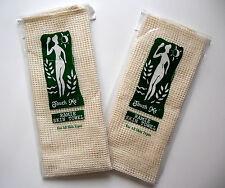 LOT* 2 Exfoliating Sisal Ramie Spa Bath Towel Washcloth
