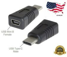 USB Type-C Male to USB Mini-B 5-Pin Female USB 2.0 Adapter US Seller