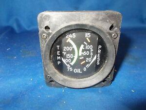 "CESSNA OIL TEMP/PRESS GAUGE ( P/N...EG5045-06017....S3279-1 ) 2.25"""