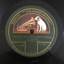 """RARE 78RPM 10"""" GRAMMOFONO R 6775 DANIELE SERRA MANDULINATA 'E LL'EMIGRANTE/FARFA"""