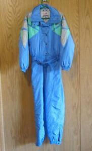 VINTAGE WOMENS LADIES 10 1-Piece Blue Ski Suit-SPYDER ENTRANT Japan