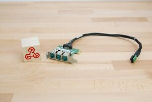 HP 640269-001 3 Port Powered USB 12V PCI Express Low Profile Card with cable