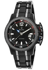 Swiss Made Accutron by Bulova 65B006 Two-Tone SS Black Dial Men's Watch