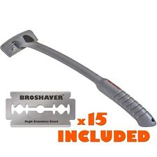 Bro Shaver Back Hair Shaver uses Refillable Standard DE Safety Razors