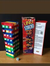 UNO Stacko (like Jenga) Complete Spear's Games Dice