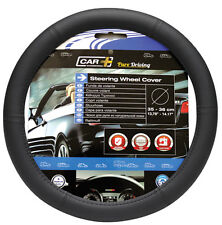 Sumex Car+ Soft Plain Black PVC Car Steering Wheel Cover - Small Size 35-36cm