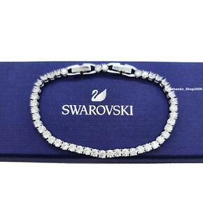 NEW 100% Authentic SWAROVSKI Rhodium Tennis Deluxe Sparkling Bracelet 5409771