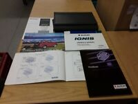 Ignis 2003-2006 Owners Manual Hand Book Wallet  Pack Including Service Book