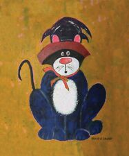 """ Spooky Da Kat "" 16x20 Canvas Giclee Print"